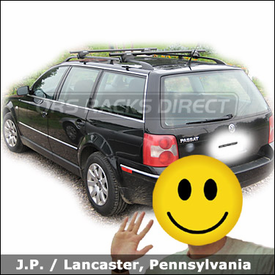 VW Volkswagen Passat Wagon Roof Rack with Yakima Lowrider System
