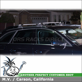 Whispbar Factory Side Rail Roof Rack for 2011 Audi A4 Avant Wagon Flush Rails