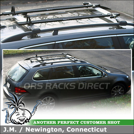 Whispbar S53 Rail Bar Roof Rack and RockyMounts Bike Racks for 2012 Volkswagen Jetta TDI Factory Side Rails