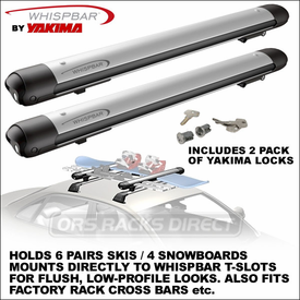 Whispbar WB300 Snow Mount Ski Rack-Snowboard Rack