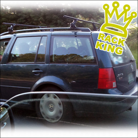 Yakima 1A RainGutters Roof Rack Mounted to Factory Side Rails - Another Rack King of The Road!