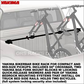 Yakima BikerBar 8001141 and 8001143 Two-Bike Racks for Truck Bed Rails