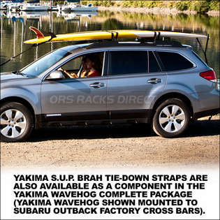 Yakima SUP Brah Tie-Down Straps - Surfboard / Stand Up PaddleBoard Nose-Tail Tie Downs - 8004060