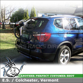 Yakima Trunk Hatch Bike Rack on 2012 BMW X3