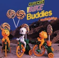 Bike Buddies With Swirl Halloween Sucker