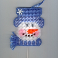 Blue Snowman Sucker Ornamet With Charms Sucker