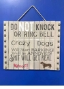 Do Not Knock Dog  Sign