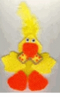 Easter Duck Plastic Canvas Magnet