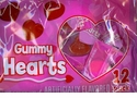 Gummy Hearts Valentine's Candy