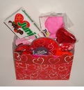 Red Heart Valentine Candy Gift Basket
