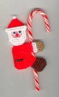 Santa Candy Cane Climber Ornament Great Stocking Stuffer