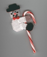 Snowman Candy Cane Climber Christmas Ornament