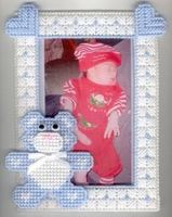 Teddy Bear Picture Frame - Blue - Great Baby Gift