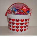 Valentine Candy Gift Bucket For Kids