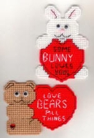 Valentine Magnet Teddy  Bear Or Easter  Bunny