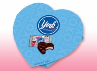 York Peppermint Patties In A Heart Shaped Box