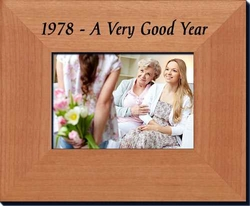 40th Birthday Picture Frame for 1978 or 1979
