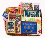 50th Birthday Gift Basket for 1968