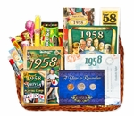 60th Birthday Gift Basket for 1958 with Coins