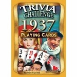 80th Birthday Deck of Trivia Cards for 1937
