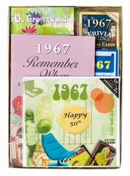 Personalized 50th Birthday Time Capsule for 1967 or 1968