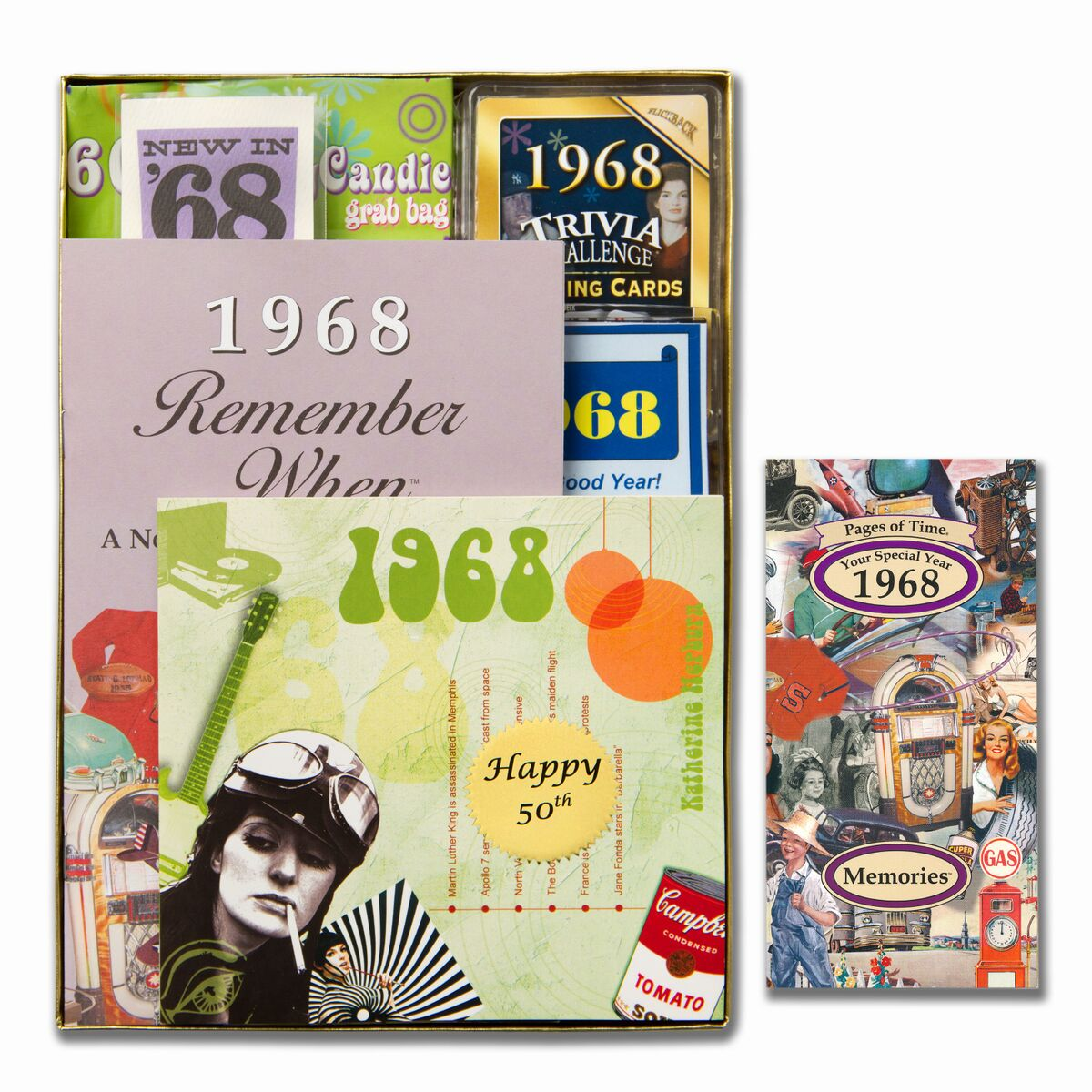 1966 Time Capsule 50th Birthday Gift For Men Or Women: Personalized 50th Birthday Time Capsule For 1968