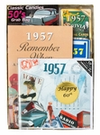 Personalized 60th Birthday Time Capsule for 1957