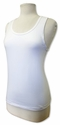 Lady's Cotton Lycra Tank WHITE SALE