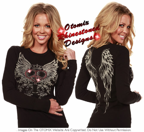 Crystal Peace Heart with Wings Thermal
