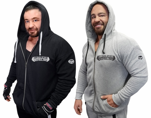 Fleece Jogger Hoodie With Otomix Bodybuilding Logo