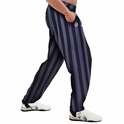 Charcoal Stripe Bodybuilding  Baggy Gym Pant