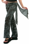 Sash Burnout Wrap Pants