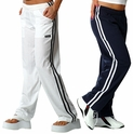FINAL SALE! Unisex Athletic Pant in White & Navy