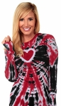 Heart Tie-Dye Thermal