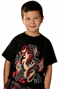 Kid's Flaming Dragon Tee