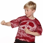 Kid's Tie Dyed Peace Tee