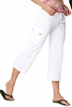 Special White Cargo Capri Final Sale