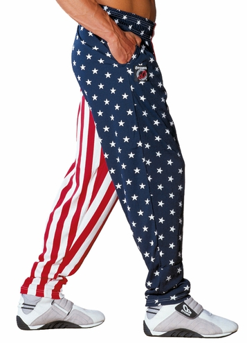 USA American Flag Baggy Workout Muscle Pant