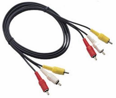 12 ft rca composite audio video cable red white yellow. Black Bedroom Furniture Sets. Home Design Ideas