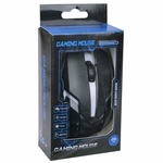 3-Button USB 3D Optical Scroll LED Gaming Mouse w/1600dpi (Black) - Retail Hanging Package