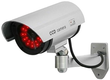 AGASIO UDC4SILVER Indoor/Outdoor Dummy IR Camera w/Red Blinking Light Silver Refurbished