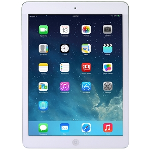 Apple ME997LLA iPad Air w/ Wi-Fi + Cellular 16GB White & Silver AT&T Refurb.