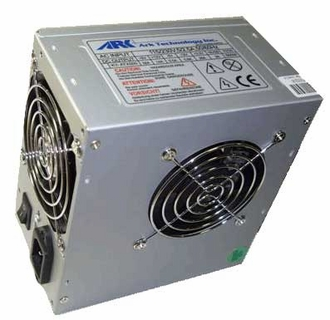 Ark Technology ARK500/8D 500W Power Supply with 2x80mm Fans, 2xSATA