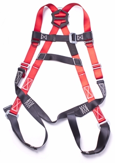 HA003BK/RD 5-point Adjustable Safety Harness Black/Red