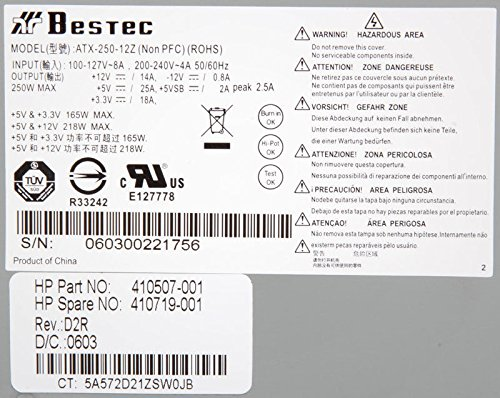 bestec atx 250 12z d2r 250 watt 24 pin power supply 410507 001 77 bestec atx 250 12z d2r 250 watt 24 pin power supply 410507 001 bestec atx-250-12z wiring diagram at webbmarketing.co