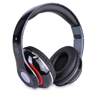 Bluetooth Wireless Foldable On-Ear Headphones w/Integrated Microphone, FM Tuner & TF Card Slot