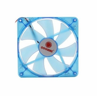 "Coolmax CMF-1425-BL UV Reactive 4-Blue 5.5"" x 5.5"" 140mm LED Case Fan w/4-Pin Connector"