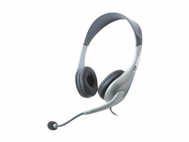 Cyber Acoustics AC-202B Stereo Headphones with Boom Mic