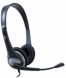Cyber Acoustics AC-204 Headset with Swivel Mic