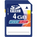 Dane-Elec DA-SD-4096-R 4 GB SDHC Flash Memory Card
